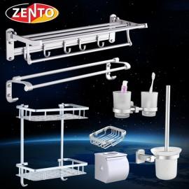 Bộ chổi cọ & kệ đỡ toilet hợp kim nhôm Zento OLO032-1