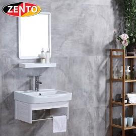 Bộ tủ, chậu, kệ gương Lavabo ZT-LV946 (Aluminum)