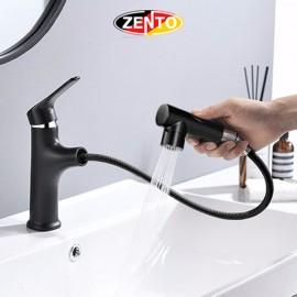 Vòi lavabo nóng lạnh Pulldown Spray ZT2130-1B (Dây rút)