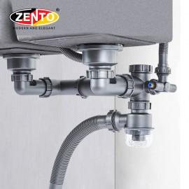 Bộ xi phông, ống xả chậu rửa bát 2 hố cao cấp XP419-Pro