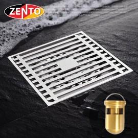 Phễu thoát sàn chống mùi và côn trùng Zento ZT528 (100x100mm)