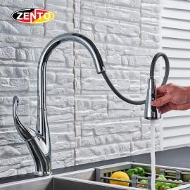 Vòi rửa chén bát nóng lạnh Pull-Down Spray ZT5525 (Dây rút)