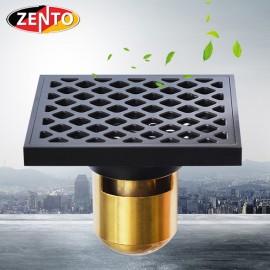 Thoát sàn chống mùi Black series Zento ZT574-1B (120x120mm)