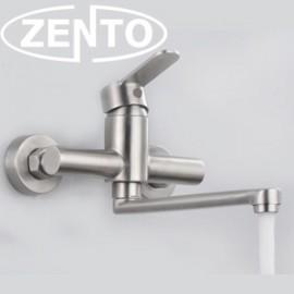 Vòi rửa bát gắn tường nóng lạnh inox304 Zento SUS4650