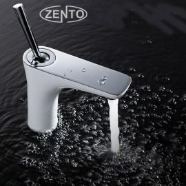 Vòi chậu rửa nóng lạnh mạ sứ Zento ZT2083