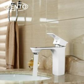 Vòi chậu rửa nóng lạnh mạ sứ Zento ZT2084