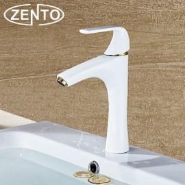 Vòi chậu rửa nóng lạnh mạ sứ giả cổ Zento ZT2085