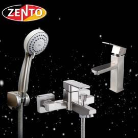Cặp đôi sen tắm và vòi lavabo inox 304 Zento CB006
