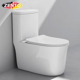 Bàn cầu 1 khối không viền Rimless Toilet BC3881 (nắp nhựa UF)