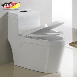 Bàn cầu 1 khối Luxury Zento BC3981 (nắp nhựa UF)