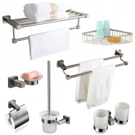 Bộ 7 phụ kiện phòng tắm inox 304 cao cấp Zento HC339
