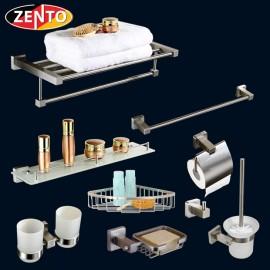 Bộ 9 phụ kiện phòng tắm inox 304 HC338