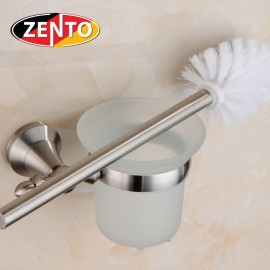 Bộ chổi cọ và kệ đỡ toilet inox304 Zento HC3801