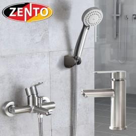 Cặp đôi sen tắm và vòi lavabo Inox304 Zento CB004