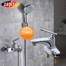 Cặp đôi sen tắm và vòi lavabo Zento CB023