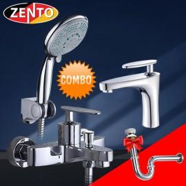 Cặp đôi sen tắm và vòi lavabo Zento CB033