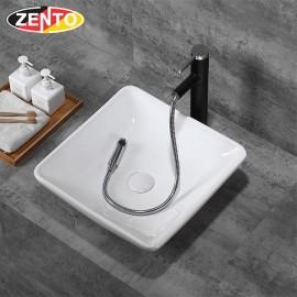 Chậu lavabo đặt bàn Zento LV070 (455x460x145)