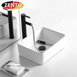 Chậu lavabo đặt bàn Zento LV007 (485x375x135mm)