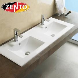 Chậu lavabo bán âm bàn đôi Zento E120