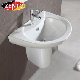 Chậu Lavabo treo tường chân lửng Zento LV6080-1