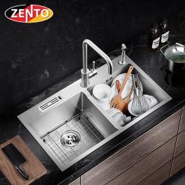 Chậu rửa bát inox 2 hố cân Zento HD8245C-201