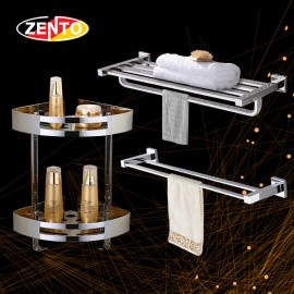 Bộ 3 phụ kiện phòng tắm inox Zento HA4612