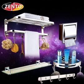 Bộ 5 phụ kiện phòng tắm inox 304 cao cấp Zento HC216