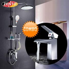 Combo sen cây và vòi lavabo Zento KM113