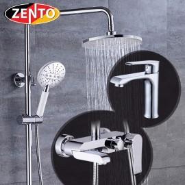 Combo sen cây & vòi lavabo Crystal series Zento KM119