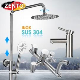 Combo sen cây và vòi lavabo inox304 zento KM101
