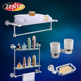 Bộ 4 phụ kiện phòng tắm hợp kim nhôm LS141