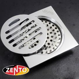 Phễu thoát sàn chống mùi hôi Zento ZT608 (100x100mm)