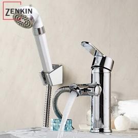 Bộ vòi lavabo kết hợp sen tắm nóng lạnh Zenkin ZK1041