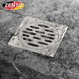 Phễu thoát sàn chống mùi inox304 Zento TS323 (120x120mm)
