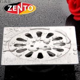 Phễu thoát sàn chống mùi hôi inox Zento TS122-L (120x120mm)