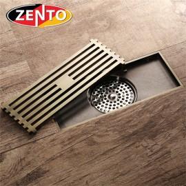 Thoát sàn chống mùi Antique Brass Zento ZT548-A (83x200mm)