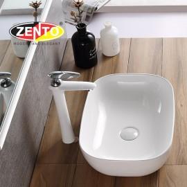 Chậu lavabo đặt bàn Zento LV1086 (485x390x150mm)