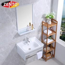 Bộ tủ, chậu, kệ gương Lavabo ZT-LV947 (Aluminum)