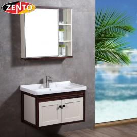Bộ tủ, chậu, kệ gương Lavabo ZT-LV1070 (Aluminum)