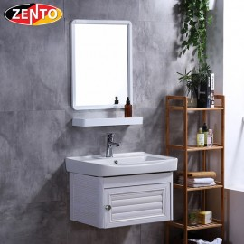 Bộ tủ, chậu, kệ gương Lavabo ZT-LV943 (Aluminum)