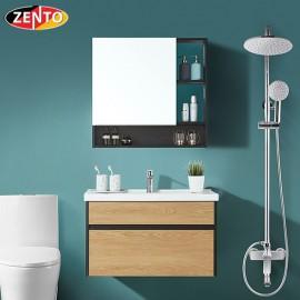 Bộ tủ, chậu, tủ gương Lavabo ZT-LV969 (cánh Laminate vân gỗ)
