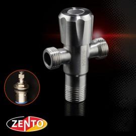 Van khóa, giảm áp lực nước 2 đầu ra inox304 Zento ZT985