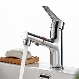 Vòi lavabo nóng lạnh Pulldown Spray ZT2130-C (Dây rút)