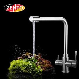 Vòi rửa bát 3 đường nước inox304 Zento SUS5569