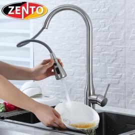 Vòi rửa bát nóng lạnh inox 304 Zento SUS5506 (Dây rút)