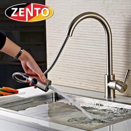 Vòi rửa bát nóng lạnh inox 304 Zento SUS5578 (dây rút)