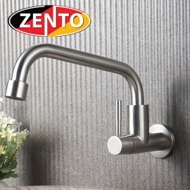 Vòi rửa bát đơn gắn tường inox304 SUS4634