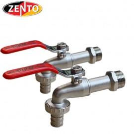 Combo 2 vòi vườn đồng tay inox Zento ZT706