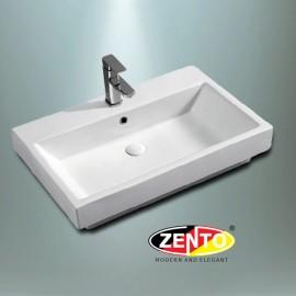 Chậu lavabo đặt bàn Zento LV110 (775x505x165mm)